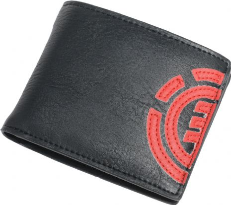 ELEMENT MENS WALLET.DAILY BLACK FAUX LEATHER CREDIT CARD MONEY PURSE 8S LA4 6761